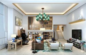 151平米现代风格温馨跃层设计装修效果图案例