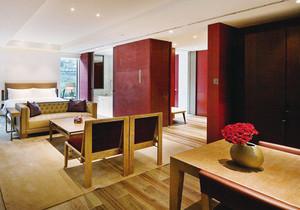 76平米新中式风格酒店客房设计装修效果图案例