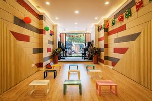 180平米现代简约风格幼儿园环境布置装修效果图