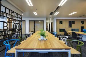 90平米现代简约风格办公室装修效果图赏析