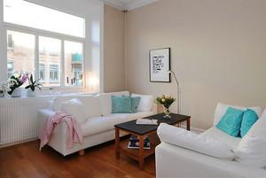62平米北欧风格简约一居室小户型装修效果图案例
