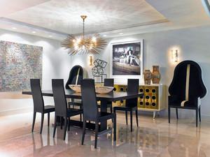 后现代风格轻奢大户型餐厅装修效果图欣赏