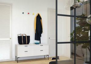 简约风格温馨实用玄关鞋柜设计装修效果图赏析