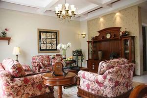 144平米美式田园风格大户型室内装修效果图案例