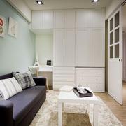 清新风格简约小户型客厅装修效果图赏析