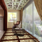 中式风格大户型精致封闭式阳台设计装修效果图赏析