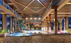 东南亚风格酒店游泳池设计装修效果图