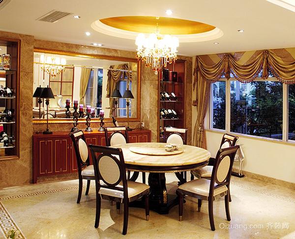 240平米古典中式风格别墅室内装修效果图案例