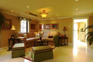 220平米欧式田园风格别墅室内装修效果图案例