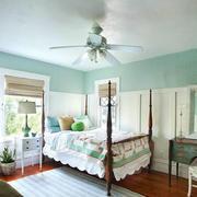 清新美式风格大户型卧室装修效果图欣赏