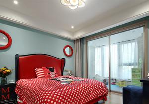 现代简约风格时尚靓丽儿童房设计装修效果图