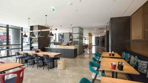 100平米现代风格精致面包店设计装修效果图