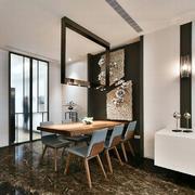 后现代风格创意餐厅背景墙装修效果图赏析