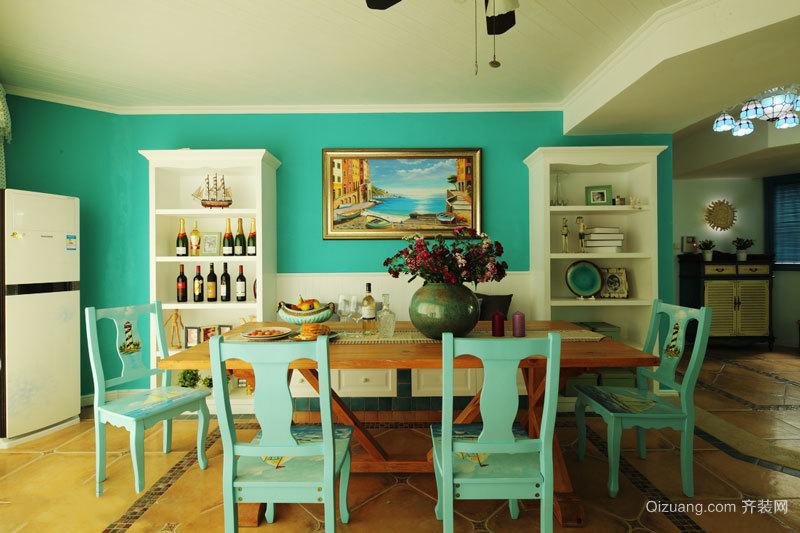 300平米地中海风格清新蓝别墅装修效果图赏析
