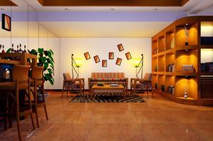 80平米深色系东南亚风格室内装修效果图赏析