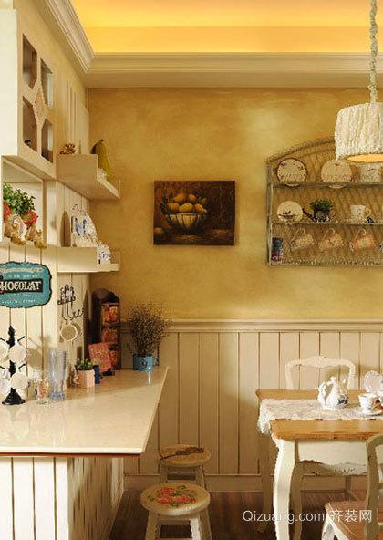 149平米法式田园风格复式楼室内装修效果图案例