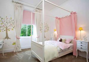 欧式风格温馨粉色女生儿童房装修效果图赏析