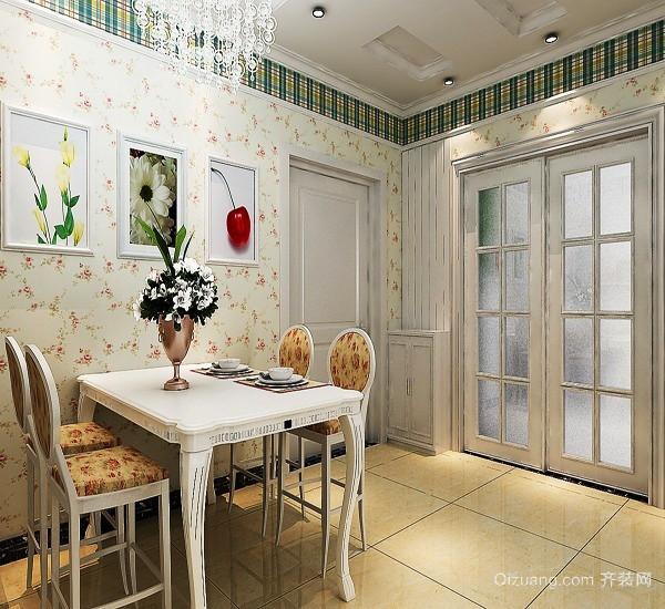 90平米韩式田园风格温馨舒适室内装修效果图赏析