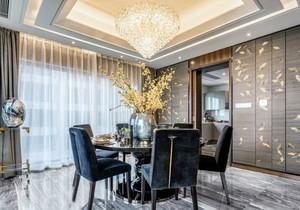 新中式风格大户型精美餐厅吊灯设计装修效果图
