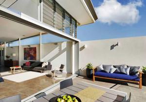 现代风格别墅露天阳台设计装修效果图