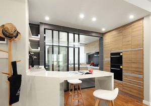 现代简约风格两居室餐厅吧台设计装修效果图赏析