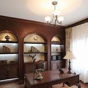 复古美式风格精致书房设计装修效果图赏析