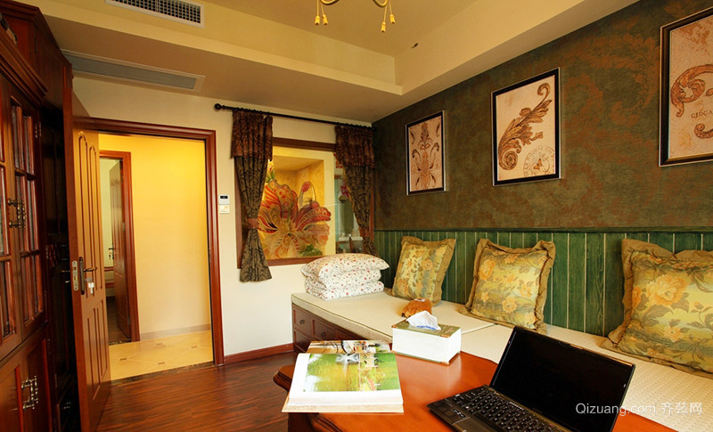158平米美式乡村风格自然大户型室内装修效果图