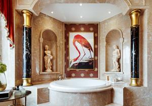 欧式风格精致别墅室内奢华卫生间设计装修效果图