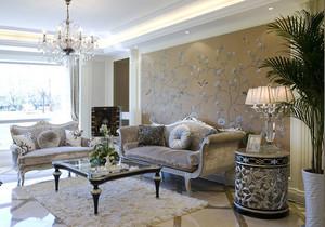 欧式风格轻奢华美客厅设计装修效果图