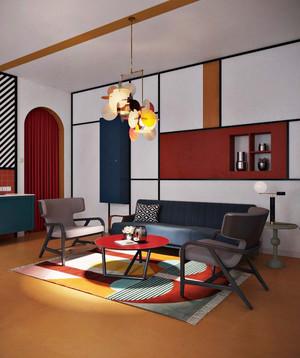 76平米后现代风格创意精装公寓装修效果图赏析