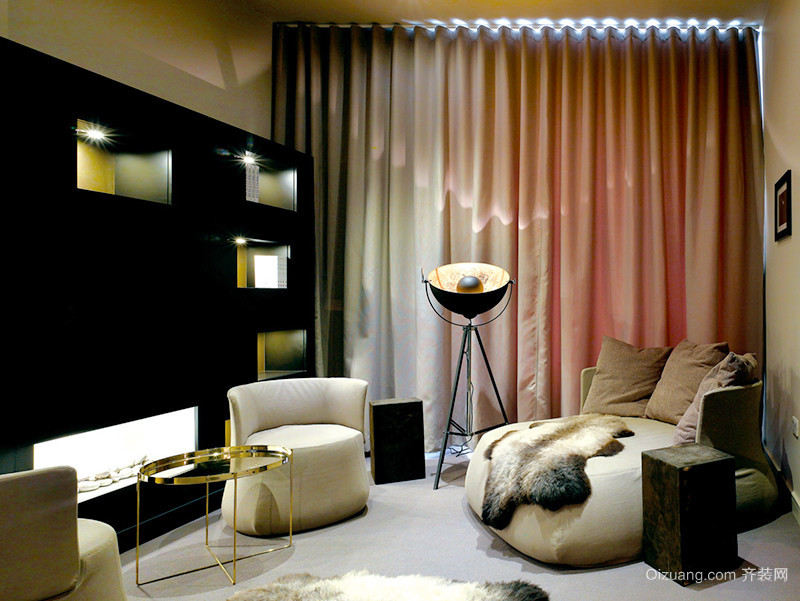 150平米现代简约风格时尚复式楼室内装修效果图赏析
