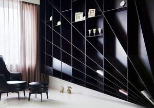 现代简约风格黑色系书房设计装修效果图
