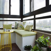 现代简约风格文艺阳台飘窗设计装修效果图