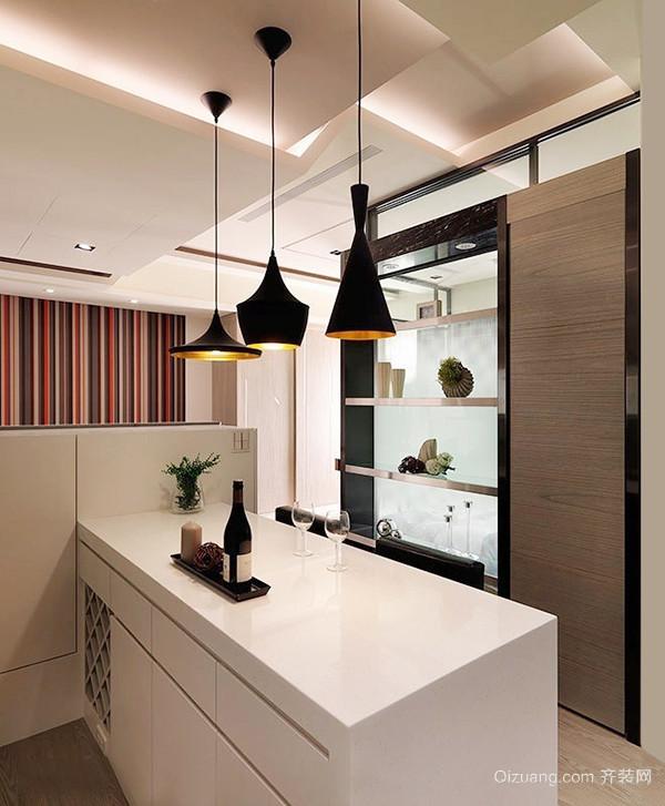 64平米现代简约风格精装单身公寓装修效果图赏析