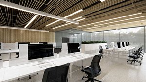 现代简约风格办公室吊顶设计装修效果图赏析