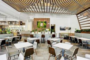 50平米现代简约风格快餐店设计装修效果图