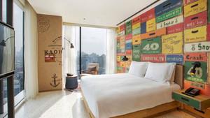 现代风格穿创意酒店客房设计装修效果图
