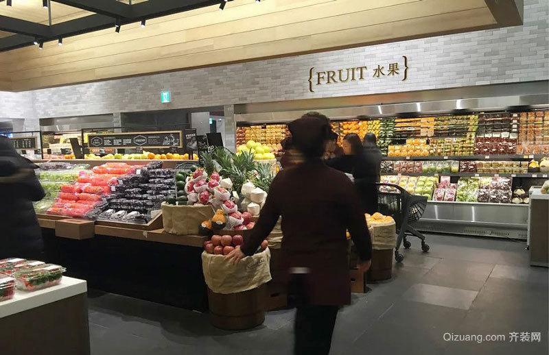 80平米现代风格水果超市装修效果图赏析