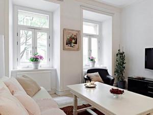 60平米北欧风格一居室小户型装修效果图案例
