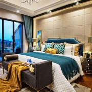 复古中式风格精致卧室装修效果图欣赏