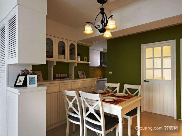 温馨美式田园风格两室两厅室内装修效果图案例