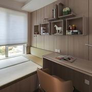 现代简约风格灰色系榻榻米卧室装修效果图赏析
