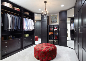 后现代风格别墅室内精美衣帽间设计装修效果图