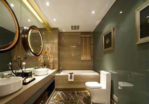 新中式风格大户型精致卫生间设计装修效果图