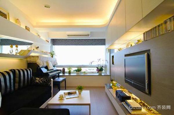 44平米现代简约风格精装单身公寓装修效果图赏析