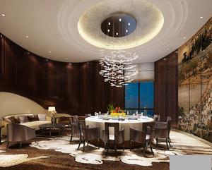 中式风格五星级酒店包厢设计装修效果图