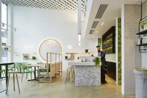 58平米清新风格咖啡厅设计装修效果图