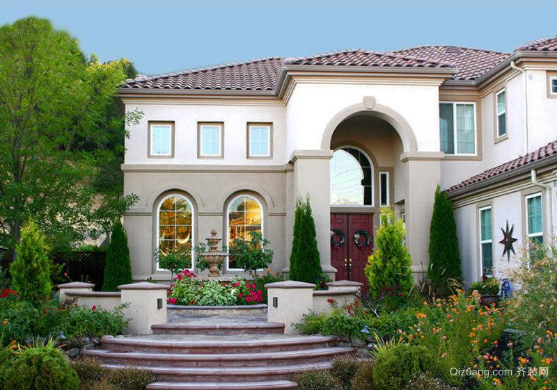 欧式风格精美别墅花园设计装修效果图