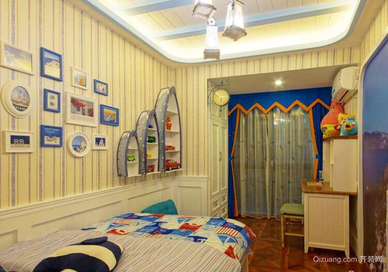 地中海风格时尚创意儿童房设计装修效果图赏析