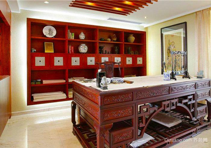 古典中式风格精致别墅书房装修效果图赏析